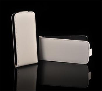Kožené knižkové púzdro NEO slim Samsung S5360 Galaxy Y Biela