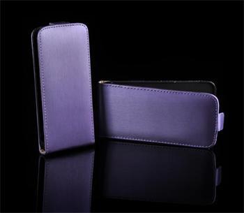 Kožené knižkové púzdro NEO slim Samsung S5360 Galaxy Y Fialová