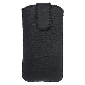 Kožené puzdro Samsung i9300 Galaxy S III, čierne