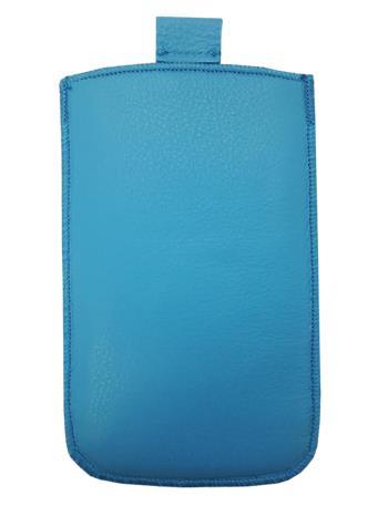 Kožené púzdro veľkosť 08 modré s pásikom pre Sam. S6102, Sam. E2652W, Sam. S5300, Sam. Star III, Sam. S5360, Nokia C2-06, Nokia 20