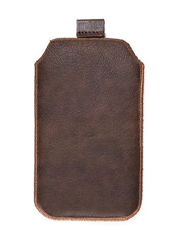 Kožené púzdro veľkosť 10 hnedé s pásikom pre Sam. E2652W, Sam. S5300, Sam. S5360, Sam. Star III., Motorola Wilder, HTC Explorer, H