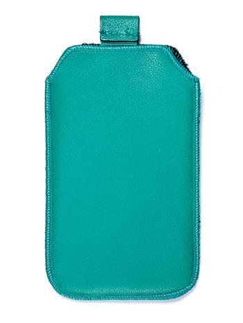 Kožené púzdro veľkosť 10 zelené s pásikom pre Sam. E2652W, Sam. S5300, Sam. S5360, Sam. Star III., Motorola Wilder, HTC Explorer,