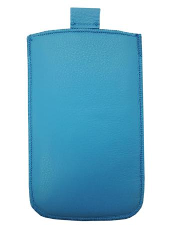 Kožené púzdro veľkosť 16 modré s pásikom pre Sam. C3530, Nokia 300, Nokia C2-01, Nokia 112, Nokia X1-01, Nokia C5, Nokia C5-03, No