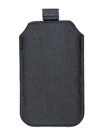 Kožené púzdro veľkosť 18 čierne s pásikom pre Sam. E2652W, Sam. C3300, SE ST15i, Sony Ericsson Mix Walkman,. ny Ericsson X8, Motor