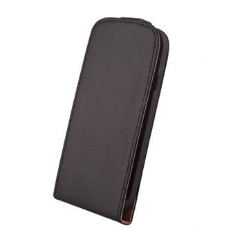 Koženkové knižkové púzdro SLIGO Elegance Flip Samsung Galaxy Ace S5830 Čierne