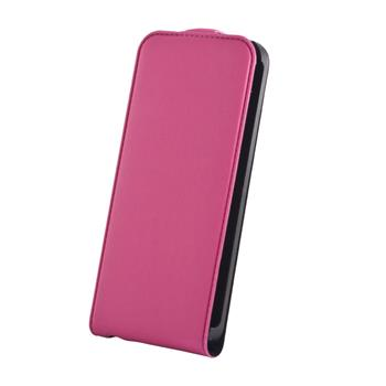Koženkové knižkové púzdro SLIGO Premium Flip Apple iPhone 5/5S/SE Ružové