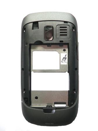 Nokia Asha 302 Dark Grey Střední Díl