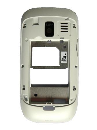 Nokia Asha 302 White Střední Díl