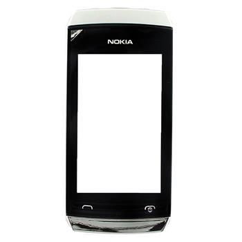 Nokia Asha 305, 306 White Silver Přední Kryt vč. Dotyku