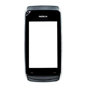 Nokia Asha 308 Black Přední Kryt vč. Dotyku