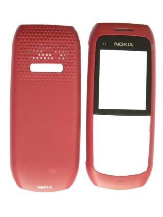 Nokia C1-00 Red Kryt Přední - Baterie