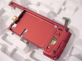 Nokia E90 stredový panel + zadný kryt červený