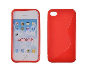Puzdro gumené iPhone 4/4S červené