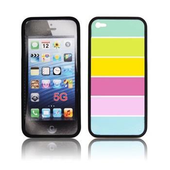 Puzdro gumené iPhone 5/5S/SE Rainbow