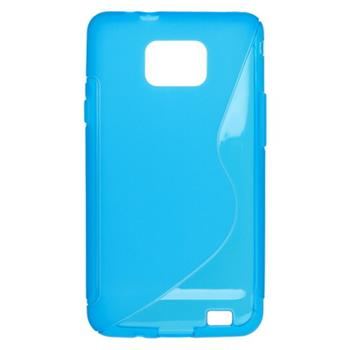 Puzdro gumené Samsung i9100 Galaxy S2 modré