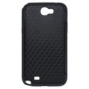 Puzdro gumené Samsung N7100 Galaxy Note II čierne so vzorom