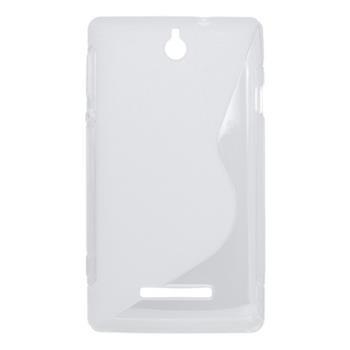 Puzdro gumené Sony Xperia E C1505 transparentná