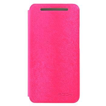 ROCK Flip Kožené Pouzdro pro HTC ONE/M7 Rose Red