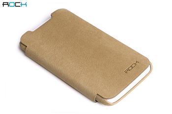 ROCK Flip Kožené Pouzdro pro HTC One X Autumn Yellow