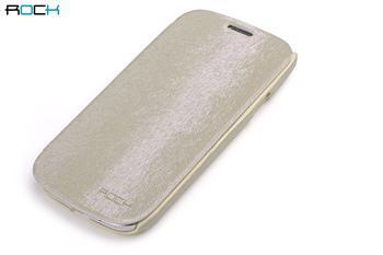 ROCK Flip Kožené Pouzdro pro Samsung Galaxy S3 (i9300/S3 i9301 Neo) Cream