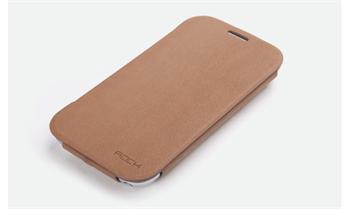ROCK Flip Stand Kožené Pouzdro pro Samsung N7100 Galaxy Note2 Coffee