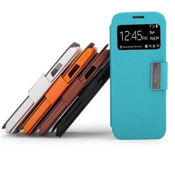 ROCK S-View Kožené Flip Pouzdro Biele pro Samsung i9505 Galaxy S4