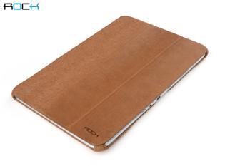 ROCK Texture Kožené Pouzdro Polohovací Coffee pro Samsung Note N8000/N8010 10.1
