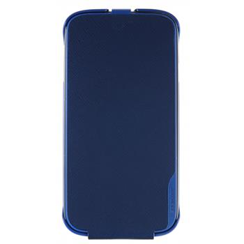 SAMS4CFBL Made by Samsung Kožené Flip Pouzdro Modré pro S4 i9505 (EU Blister)