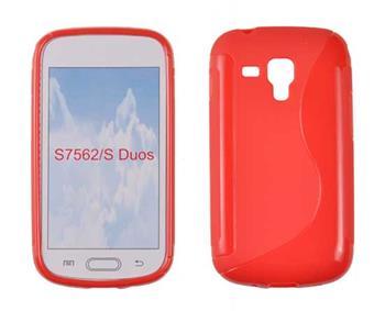 Samsung Trend S7560/Trend Plus S7580, Samsung S DUOS S7562/S DUOS 2 7582 Gumené puzdro, červené