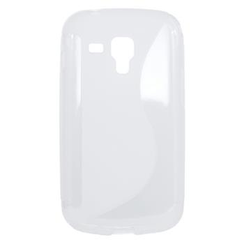 Samsung Trend S7560/Trend Plus S7580, Samsung S DUOS S7562/S DUOS 2 7582 Gumené puzdro, transparentné