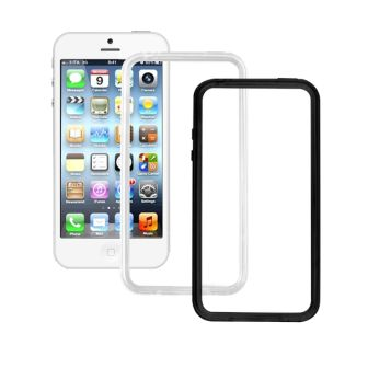 SEMIRIGID Bumper pro iPhone 5 Double Pack Black-White (EU Blister)