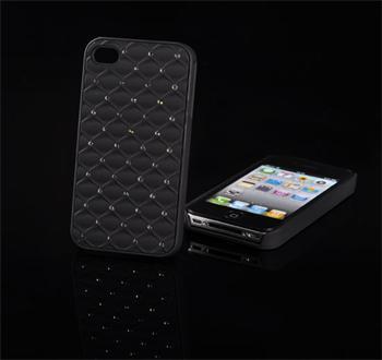 Tvrdé puzdro Diamond iPhone 4/4s, Čierne