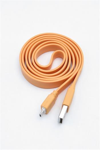 Universal Belt microUSB Datový Kabel Orange (Bulk)