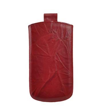 Vsuvka Pravá Koža Future Nokia Asha 302 Červená krkvavá