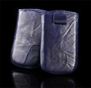 Vsuvka Pravá Koža Future Samsung i9300,i9500 Modré krkvavé